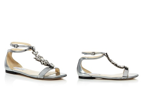 Jimmy Choo Women's Averie Embellished Leather T-Strap Sandals - Bloomingdale's_2